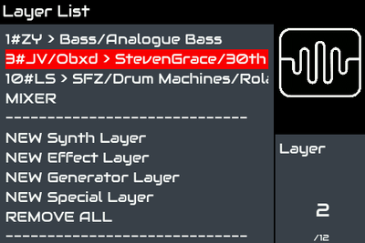 Zynthian ui layer list mixer.png